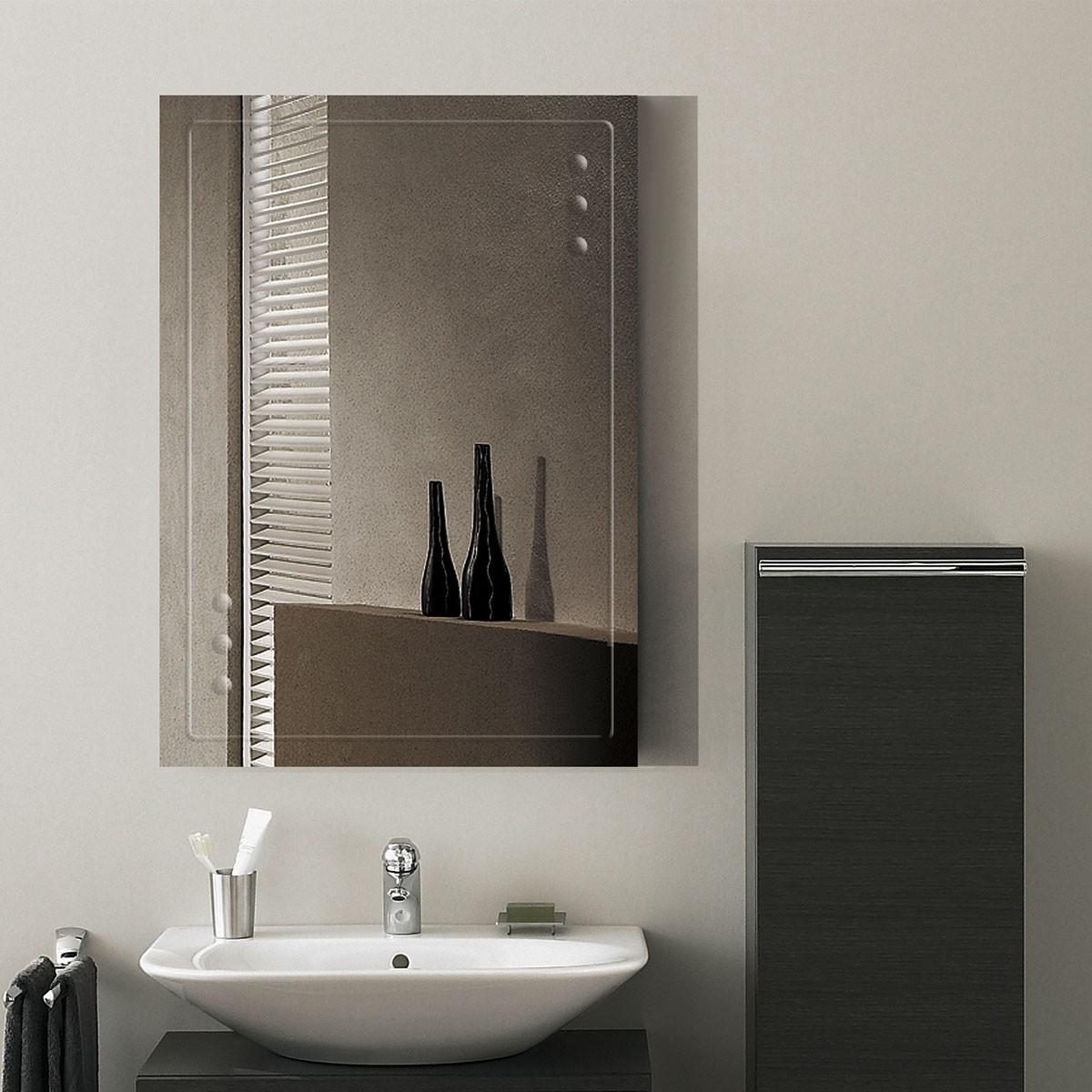 28 x 20 In. Wall-mounted Rectangle Bathroom Mirror (DK-OD-B047B)