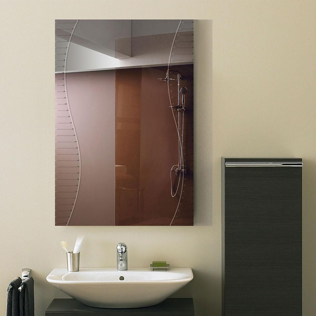 36 x 24 In. Wall-mounted Rectangle Bathroom Mirror (DK-OD-B068A)