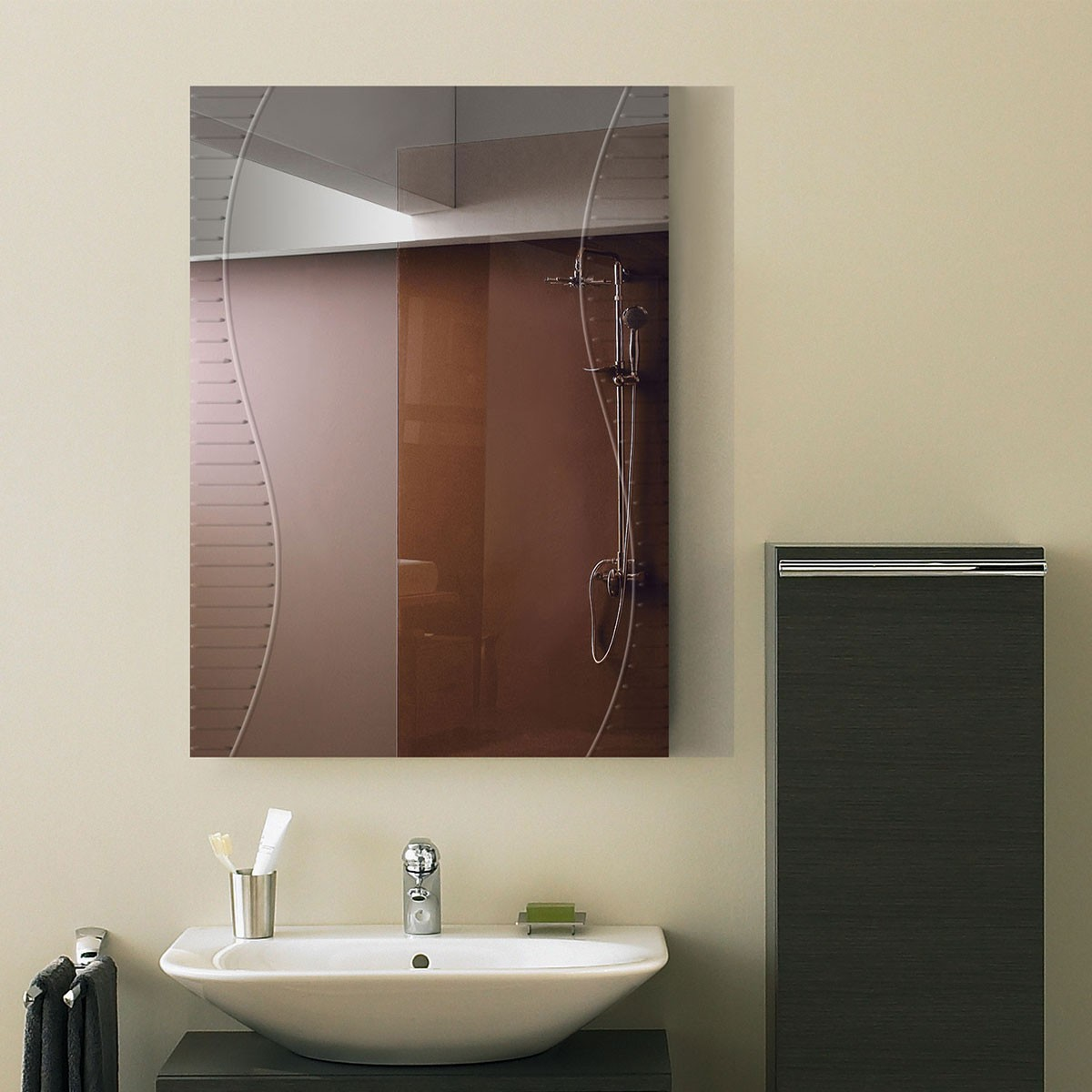 20 x 28 In. Wall-mounted Rectangle Bathroom Mirror (DK-OD-B068B)