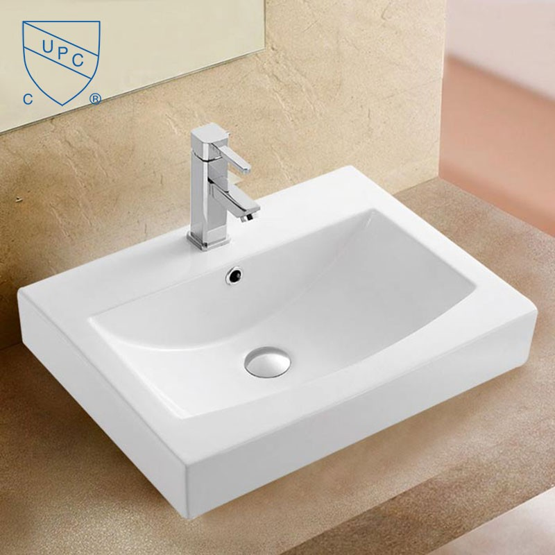 Decoraport Rectangle Ceramic Above Counter Basin (CL-1082)