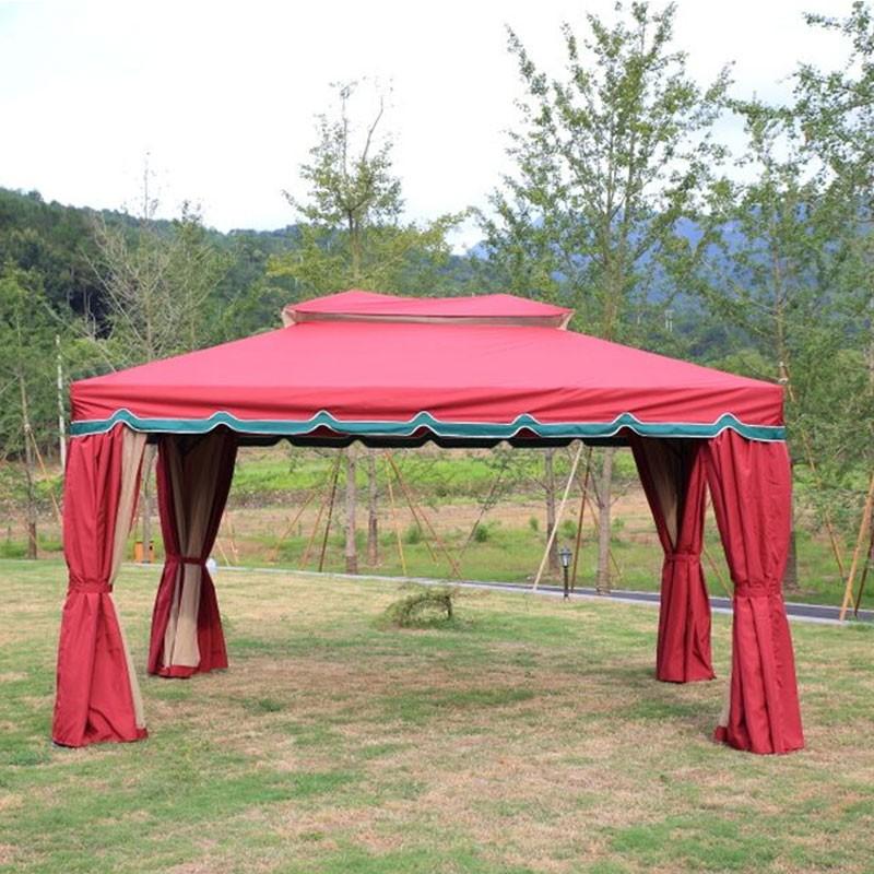 13.12 ft. x 13.12 ft. Roman Style Outdoor Cabin Gazebo (LM-005-4)