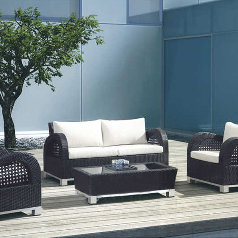 Wicker Patio Seating Set with Cushion Insert (JMS-692)