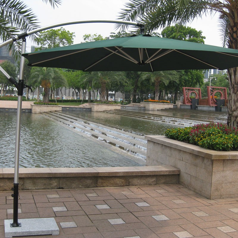 9.8 ft.  Deluxe Polyester  Offset Patio Umbrella (906AL-1)