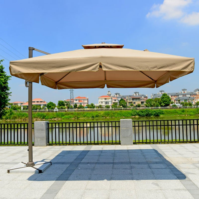 8.2 ft. Deluxe Polyester Offset Patio Umbrella (Square double top) (921AL-2)