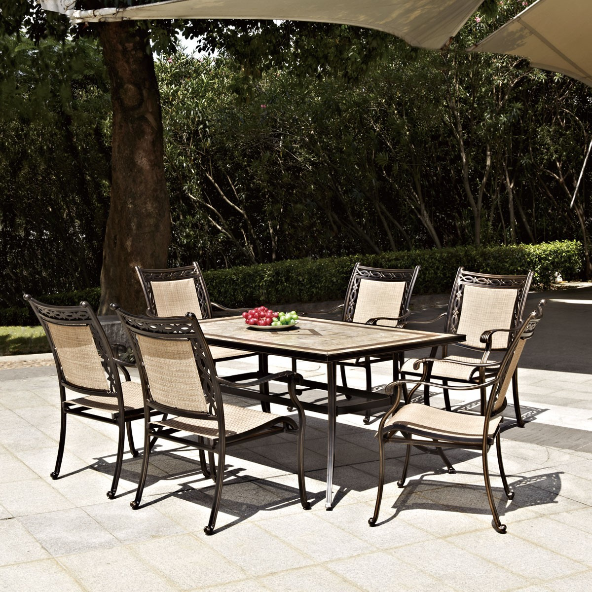 7 Pieces Dining Set: 1 * Dining Table, 6 * Chair (LLS-CA008)
