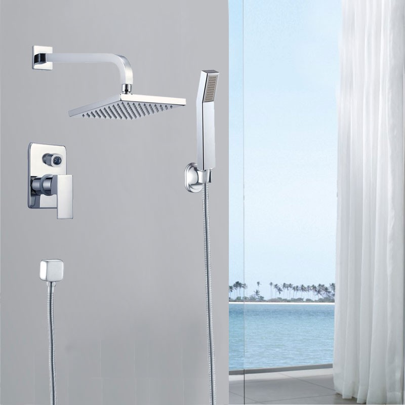 Bathroom Single Handle Shower Faucet - Brass with Chrome Finish (86H15-CHR-SB)