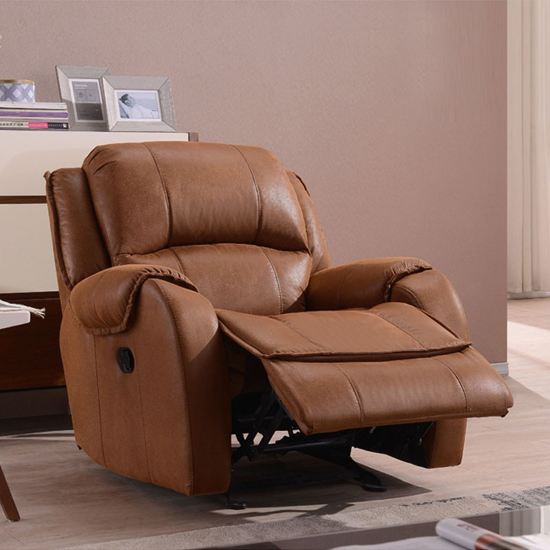 Brown Velvet Manual Reclining Chair (LH-EA91Z-1)