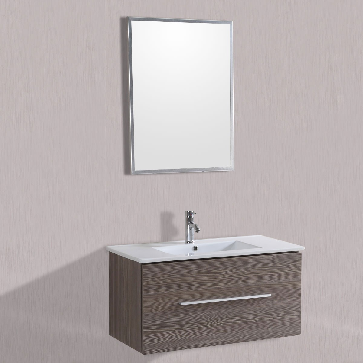 40 in wall mount bathroom vanity set with single sink and for Liquidation meuble lavabo