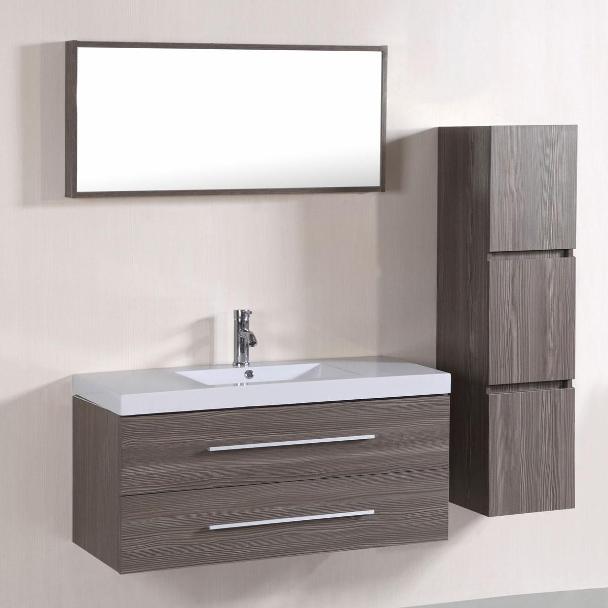 bathroom vanities set. 40 In. Wall-Mount Bathroom Vanity Set With Single Sink And Mirror (DK Vanities