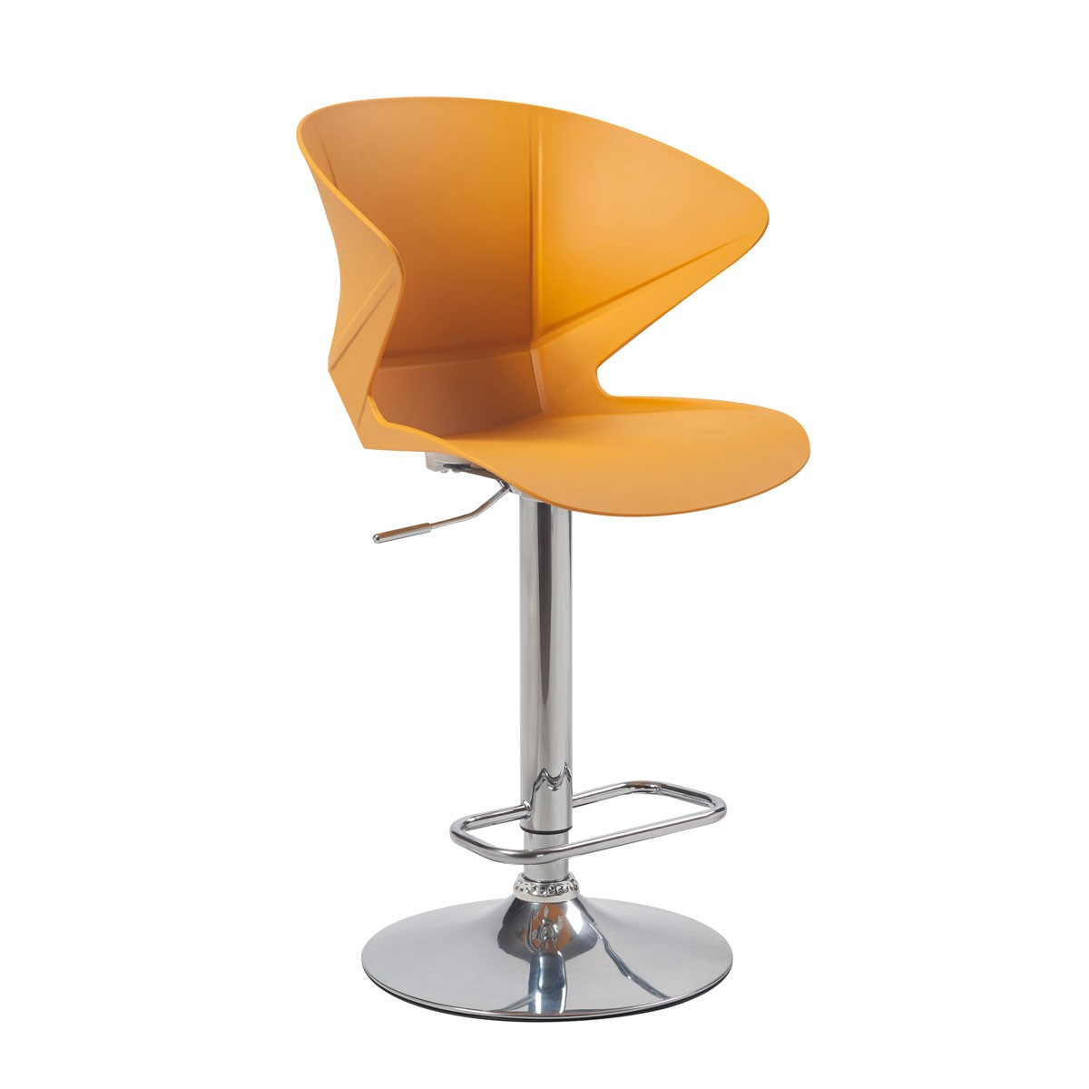 Yellow Adjustable Height Swivel Bar Stool with Round Base - Set of 2 (YMG-9802-1)