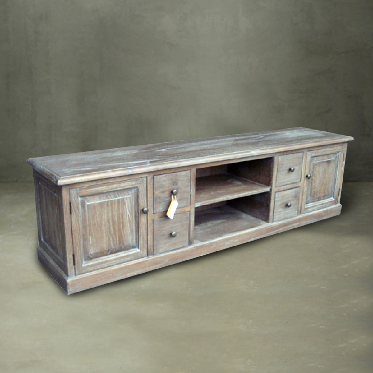 72.0u201cW Solid Wood Media Cabinet (PJG016)