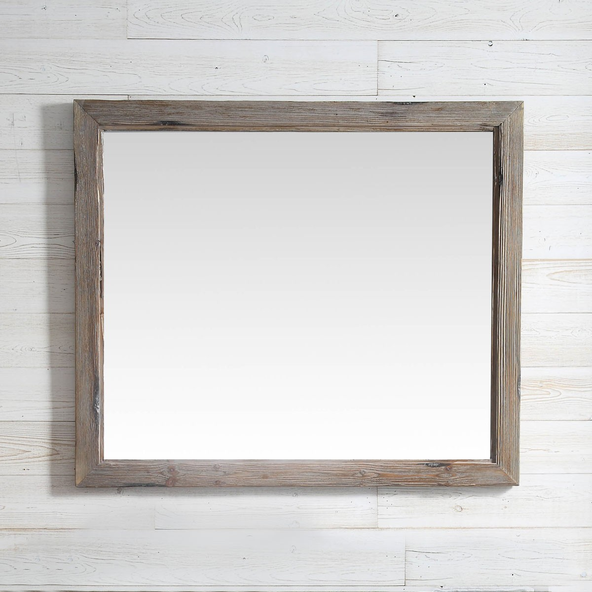 42 X 36 In Bath Vanity Décor Mirror With Fir Wood Frame Dk Wh9342