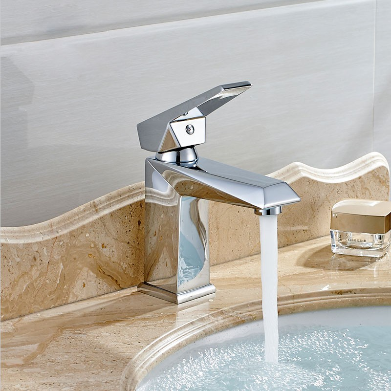 Basin&Sink Faucet - Brass with Chrome Finish (81H36-CHR-001)