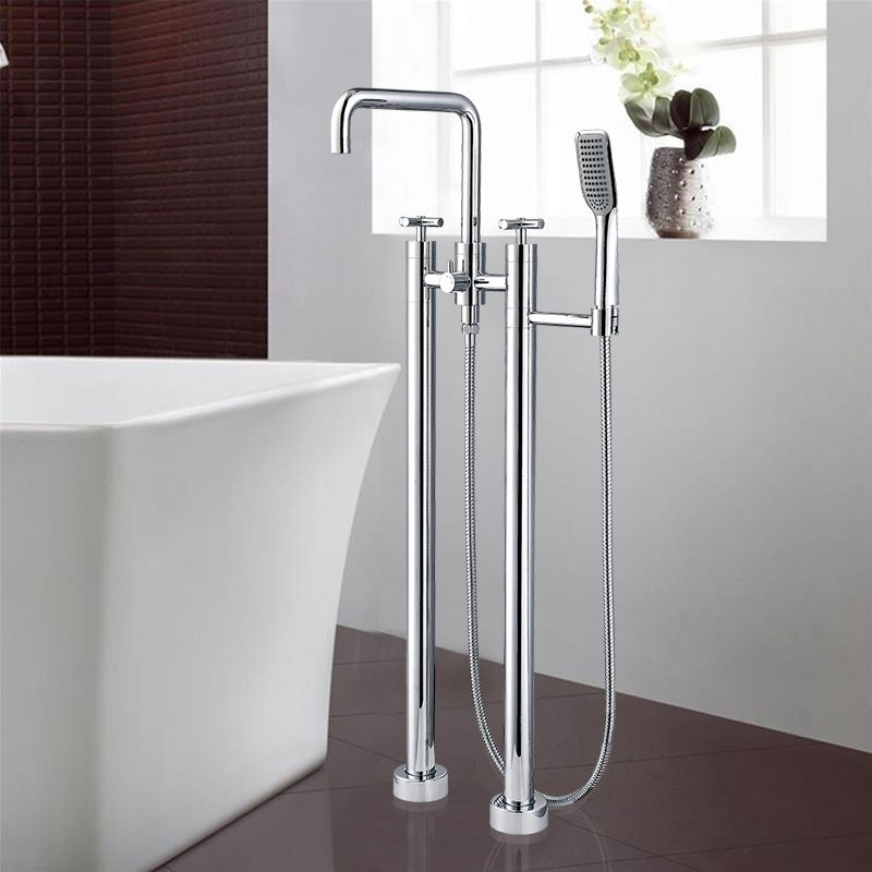 Freestanding Bathtub Faucet with - Brass with Chrome Finish (DK-9138)