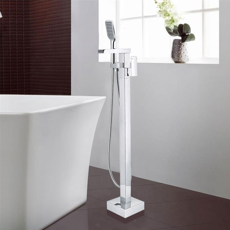 Freestanding Bathtub Faucet - Brass with Chrome Finish (DK-9122 ...