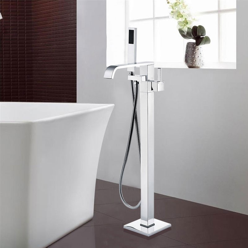 Freestanding Bathtub Faucet - Brass with Chrome Finish (DK-9132)