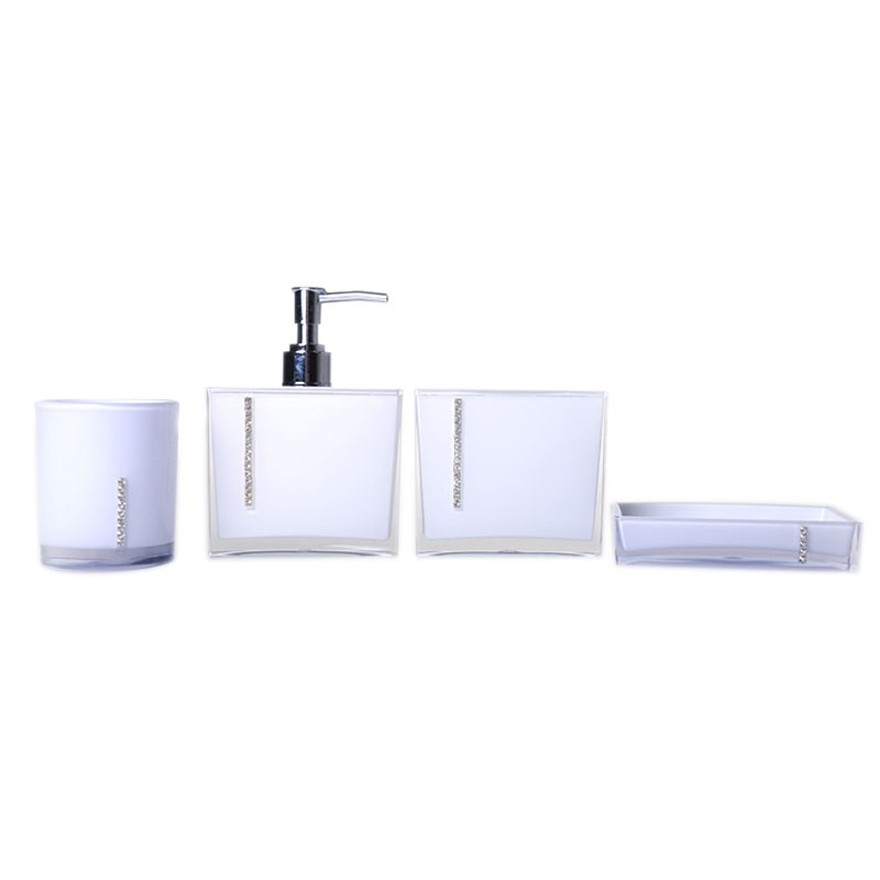 4-Piece Bathroom Accessory Set, White Collection (DK-ST025)