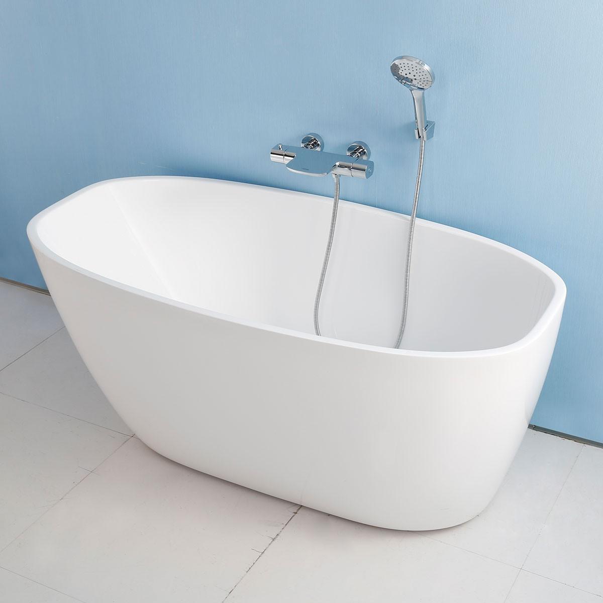 67 In White Acrylic Seamless Freestanding Bathtub (DK-AT-15776W)