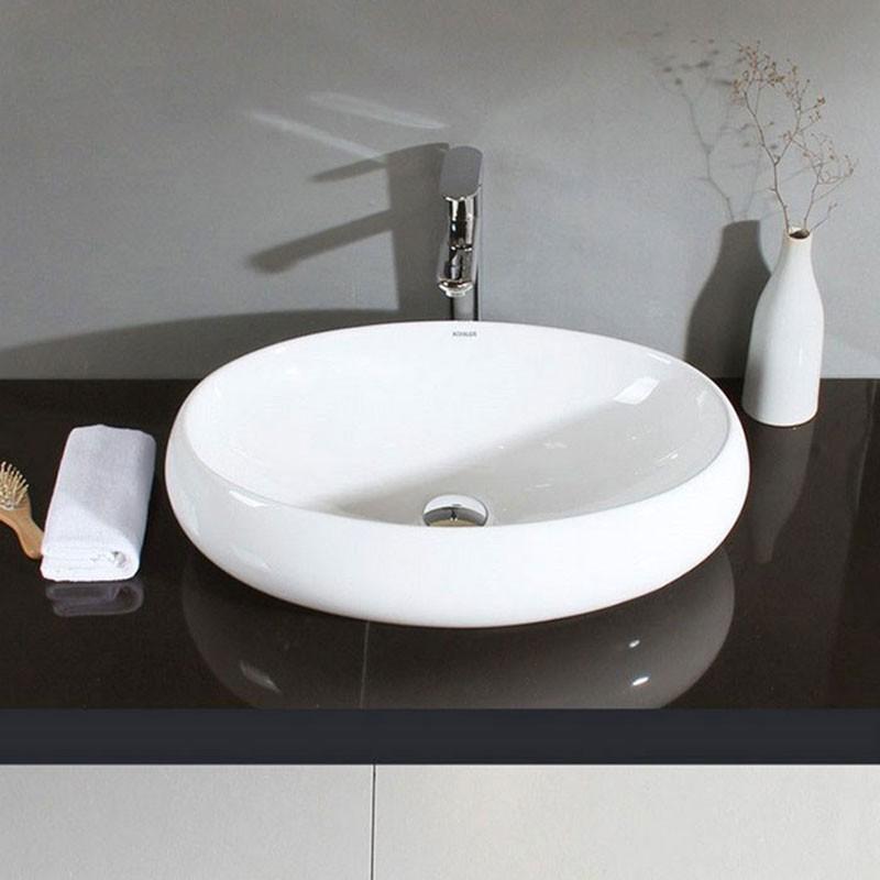Decoraport  Oval Ceramic Above Counter Basin (CL-1001)