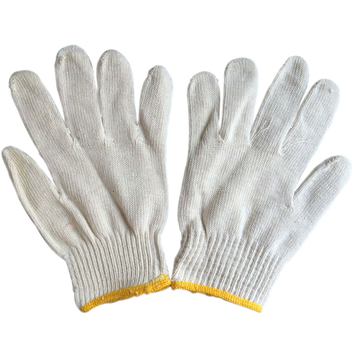 Natural White Cotton Work Gloves, 45g/pair, 12 pairs/pack (DK-OD012)