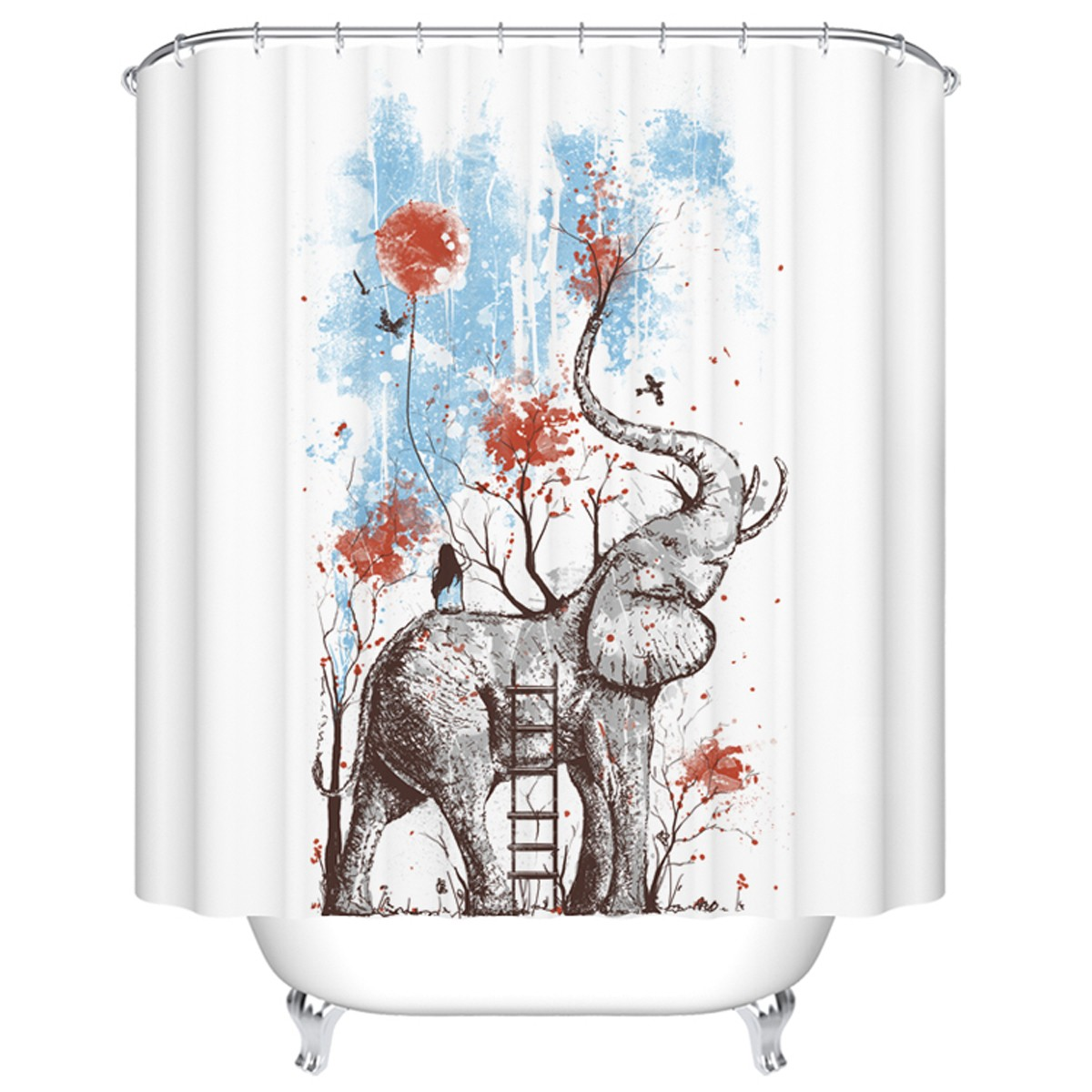 "Bathroom Waterproof Shower Curtain, 70"" W x 72"" H (DK-YT018)"