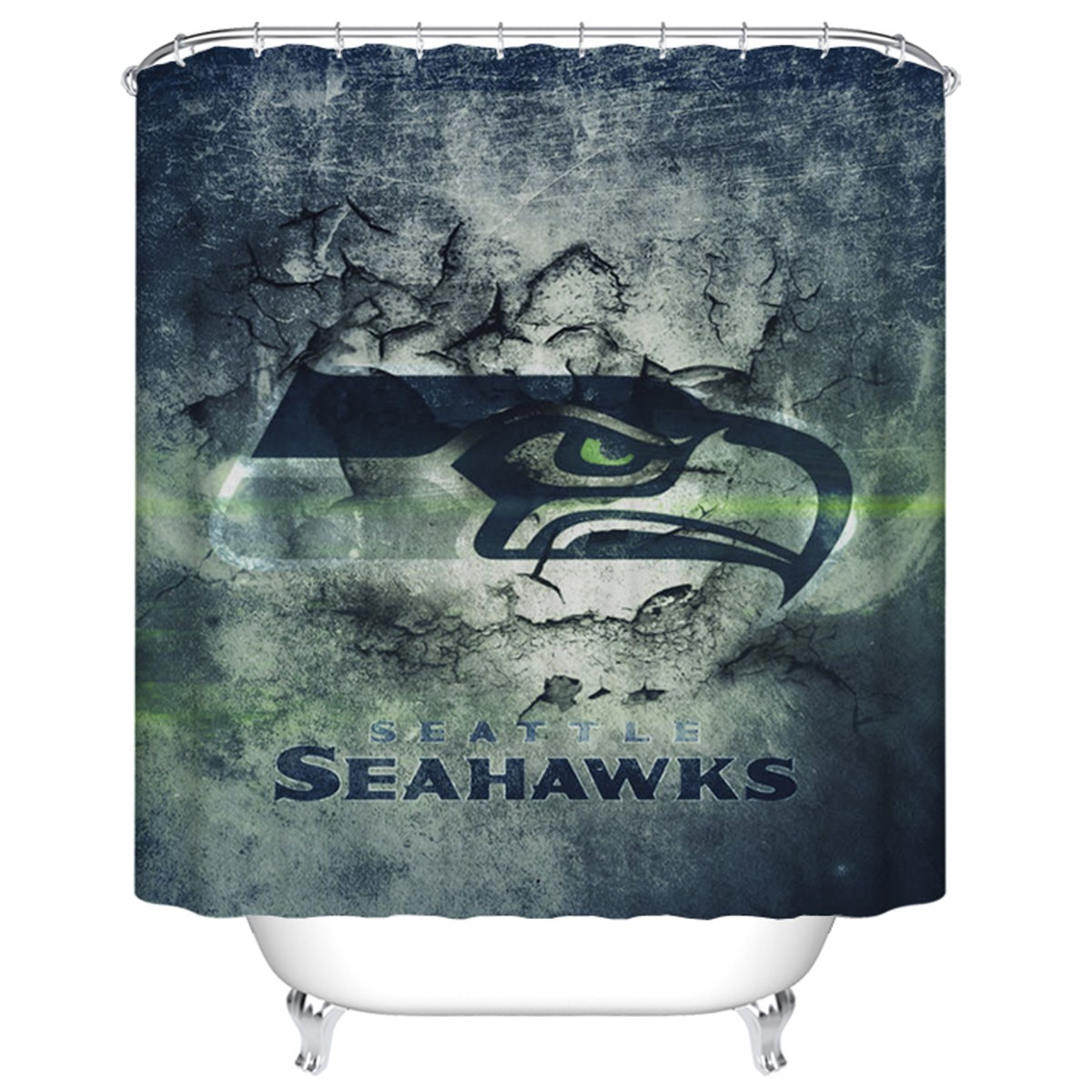 "Bathroom Waterproof Shower Curtain, 70"" W x 72"" H (DK-YT019)"
