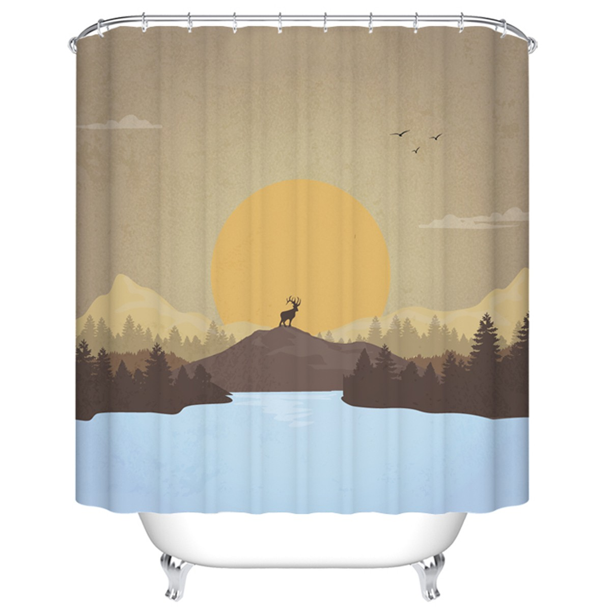 "Bathroom Waterproof Shower Curtain, 70"" W x 72"" H (DK-YT024)"