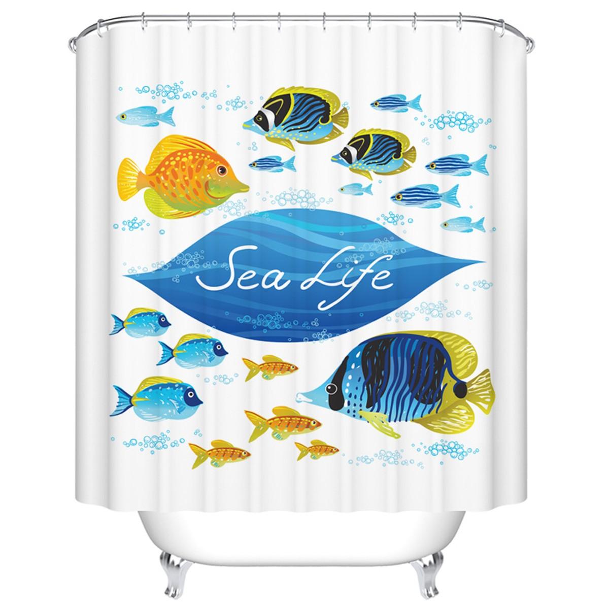 "Bathroom Waterproof Shower Curtain, 70"" W x 72"" H (DK-YT028)"