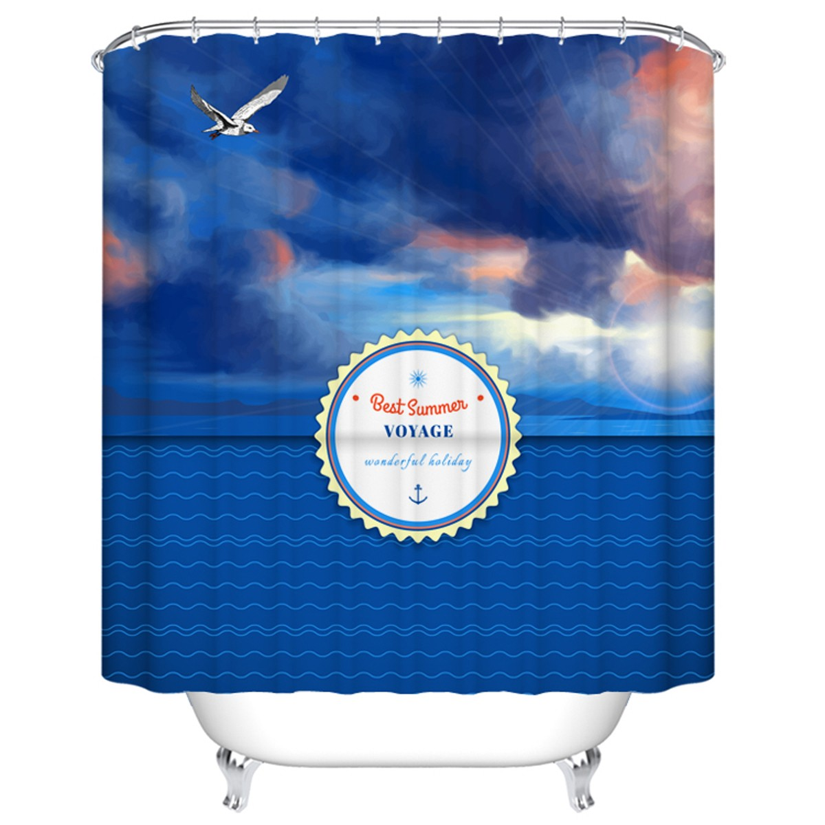 "Bathroom Waterproof Shower Curtain, 70"" W x 72"" H (DK-YT032)"