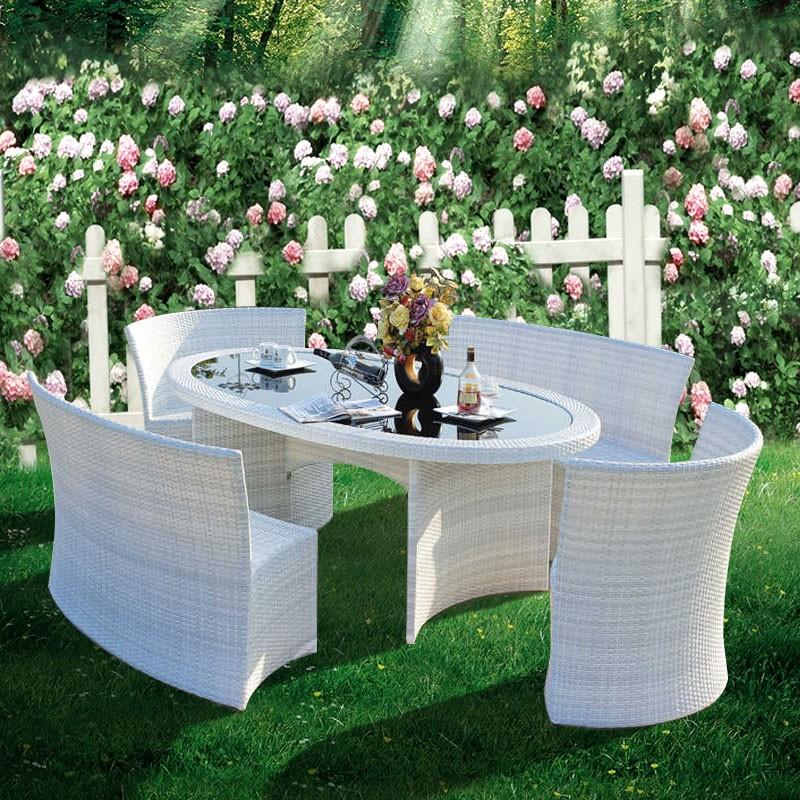 5 Pieces Dining Set: 1 * Dining Table, 2 * Armless Chair, 2 * Armless Long Chair (JMS-7061)