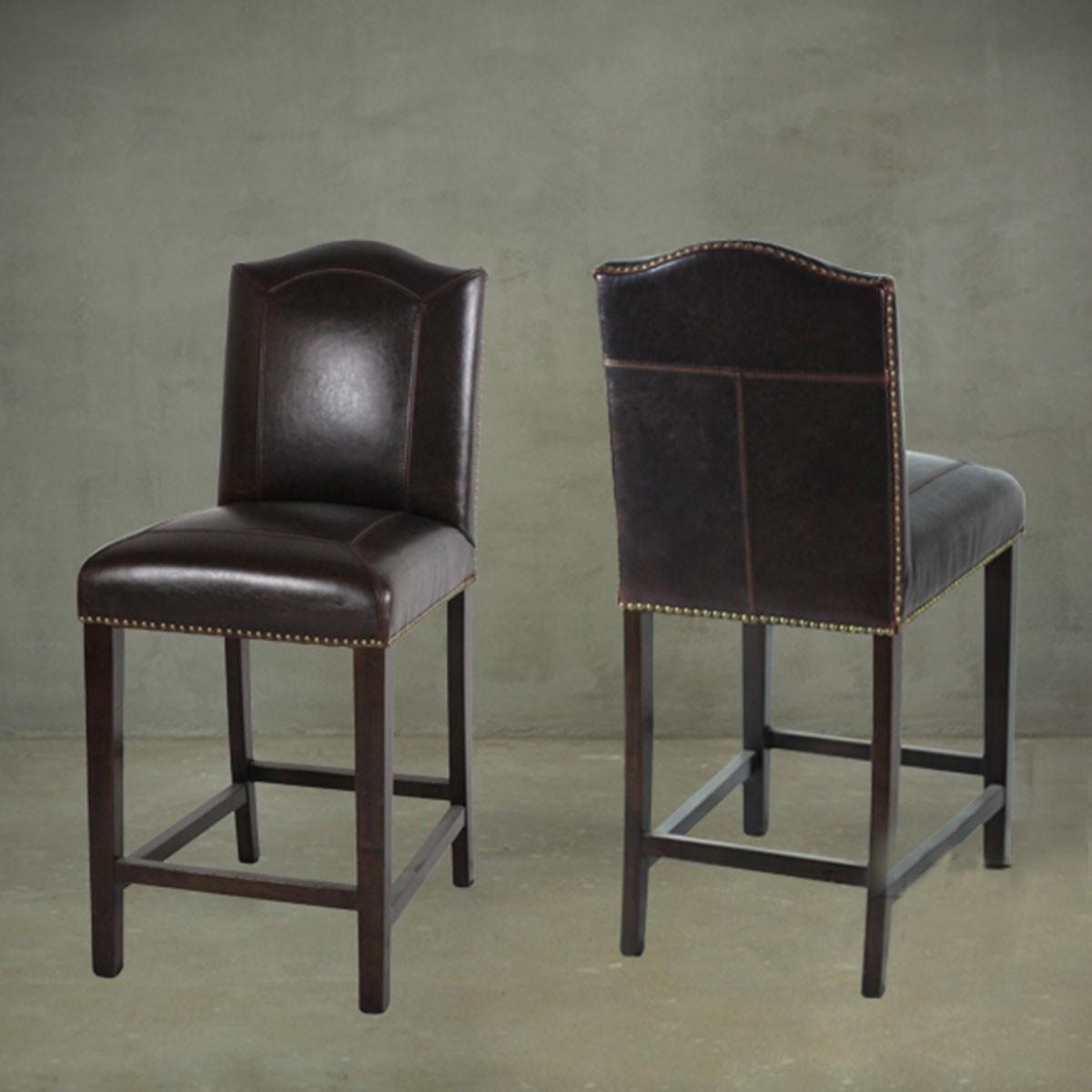 Upholstered Wooden Bar Stool Pjl321 Decoraport Usa