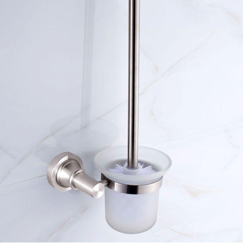 Wall Mount Toilet Brush Holder - Anti-oxidant Aluminum Alloy (60594)
