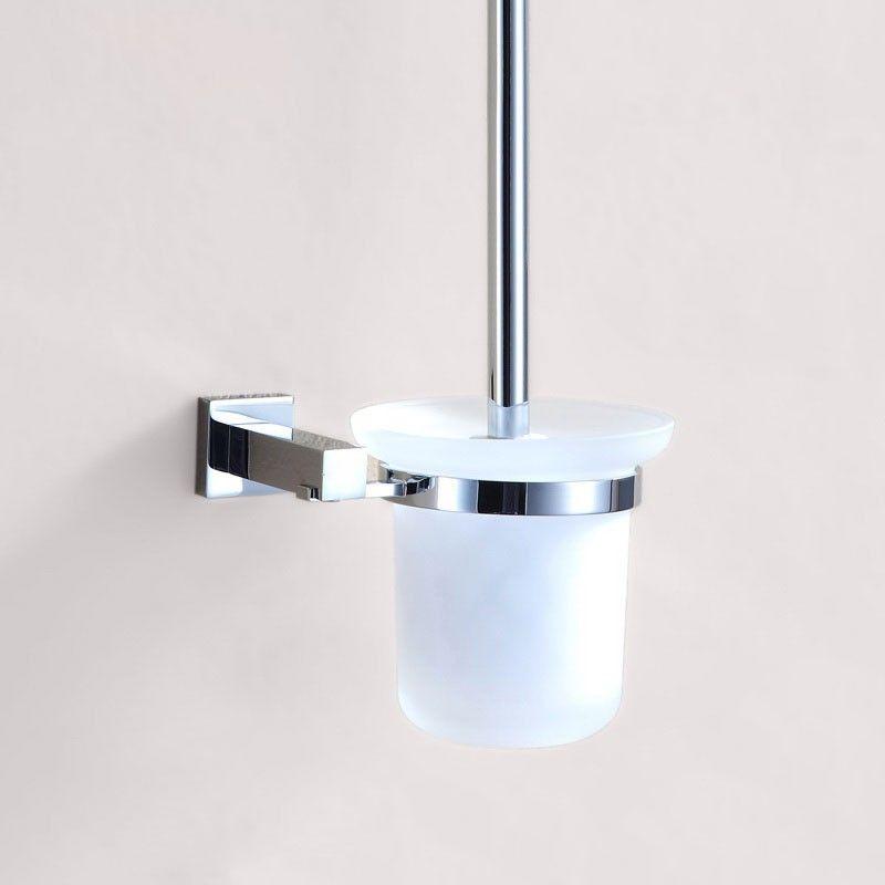 Wall Mount Toilet Brush Holder - Chrome Brass(80894)