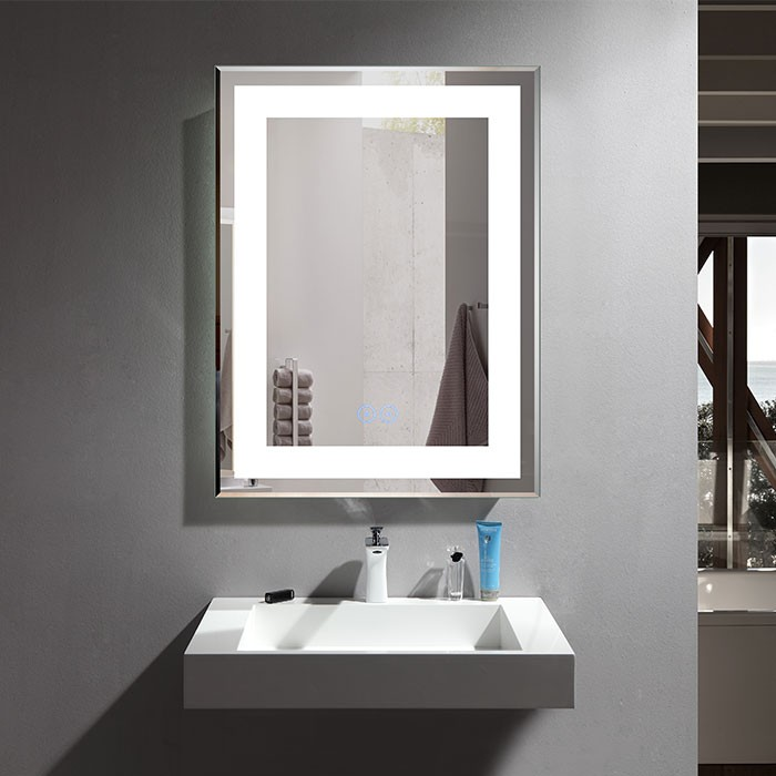 28 X 36 In Vertical Led Bathroom Mirror With Anti Fog Function Dk