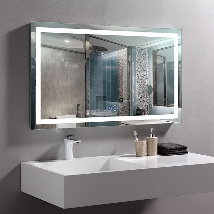 40 X 24 In Horizontal Led Bathroom Mirror With Anti Fog