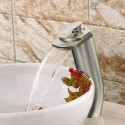 Basin&Sink Waterfall Faucet - Brass in Brushed Nickel (81H18-BN)