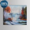 100% Hand Painted Abstract Landscape Oil Painting (DK-JX-YH059)