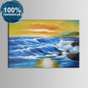 100% Hand Painted Abstract Seascape Oil Painting (DK-JX-YH053)