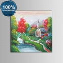 100% Hand Painted Abstract Landscape Oil Painting (DK-JX-YH051)