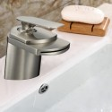 Basin&Sink Waterfall Faucet - Brass in Brushed Nickel (81H19-BN)