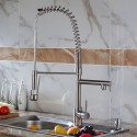 Modern Kitchen Faucet - Brass in Brushed Nickel (82H03-BN)