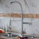 Modern Kitchen Faucet - Brass with Chrome Finish (82H03-CHR)