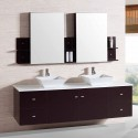72 In. Bathroom Vanity Set with Double Sink and Mirror (DK-T9147)