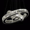 3-Ring Stainless Steel Built Modern LED Crystal Chandelier with Remote Control (DK-LD1050-3)