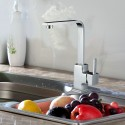 Chrome Finished Brass Kitchen Faucet (82H35-CHR)