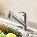 Brushed Nickel Finished Brass Kitchen Faucet - Pull Out Spray Head (D011BN)