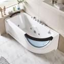 67 In White Acrylic Whirlpool Tub (DK-Q307N-R)
