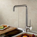 Decoraport Modern Style Kitchen Faucet - Brass with Chrome Finish (YDL-1055)