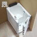 40 x 28 In Walk-in Soaking Bathtub - Acrylic White with Right Drain (DK-Q376-R)