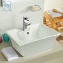 White Rectangle Ceramic Above Counter Basin (DK-LSE-8014)
